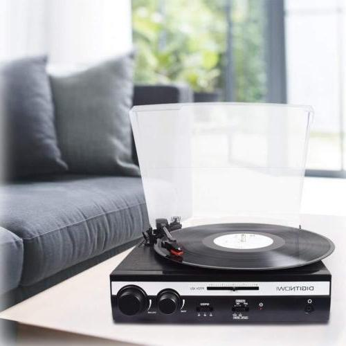 3-speed Turntable Vinyl LP Record Player Converter Built-in Stereo