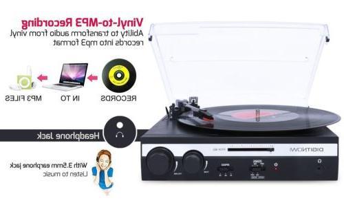 3-Speed USB Turntable Vinyl LP