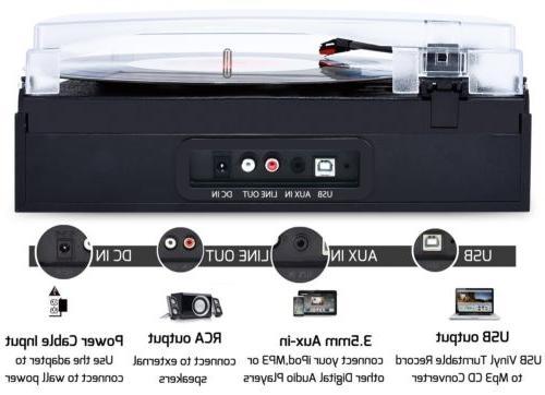 3-Speed Turntable LP / Converter Built-in