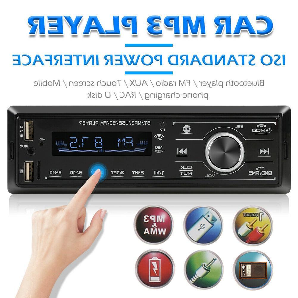 Single DIN Car Stereo Bluetooth MP3 Player USB FM Radio AUX-