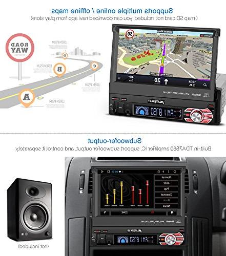 32GB + Din Android Stereo Radio with Navigation, 7 inch Out Touch Support WIFI, Camera, AUX SD/ USB, Cam
