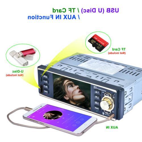 """4.1"""" Bluetooth Car Audio In Dash MP3 Player Radio FM USB"""