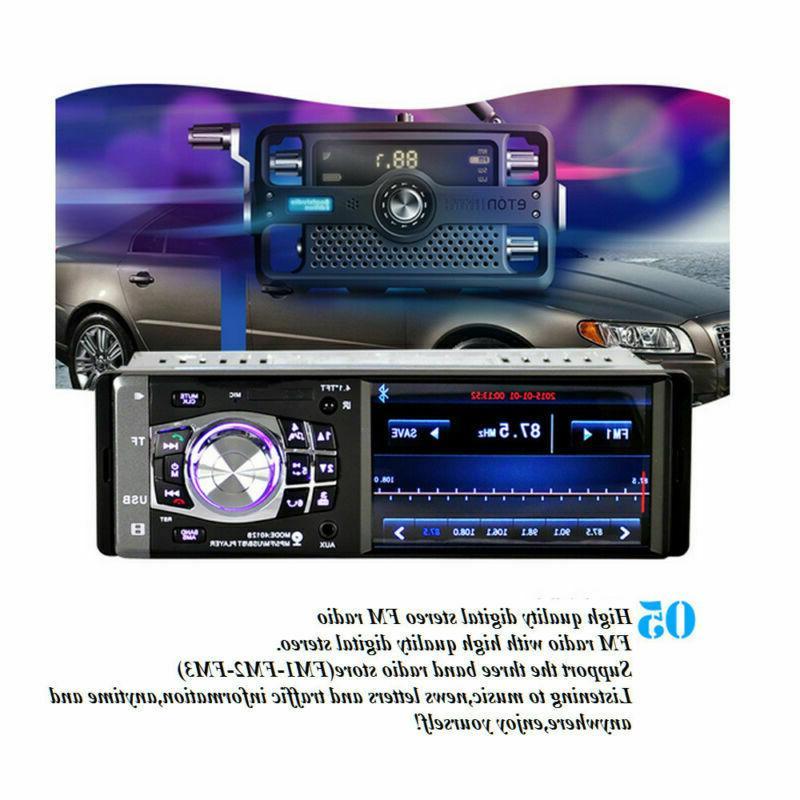 """MP3 Player Radio HD USB AUX FM Rear Camera 4.1"""""""