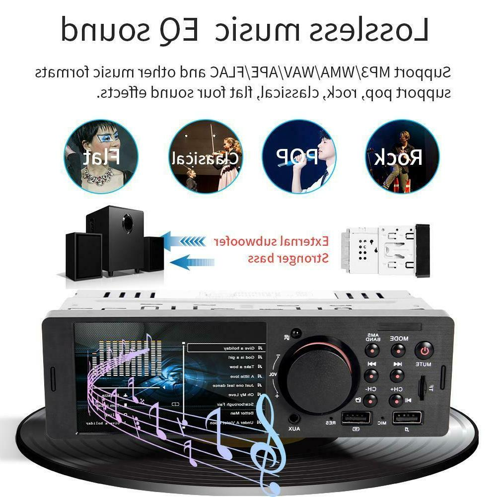 4.1 1 TFT HD Radio Player Bluetooth BT4.0