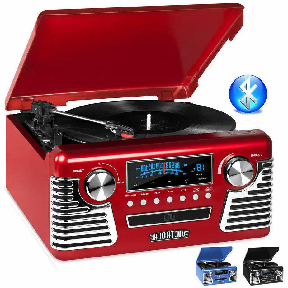 50 s retro record player stereo bluetooth
