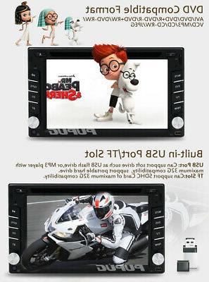 EinCar Double 2 Din Dash Player GPS Stereo USB