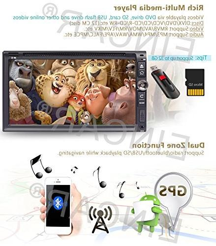 6.95''Double Din Car GPS Navigation Screen DVD/CD <font><b>Receiver</b></font> with Multitouch System Radio In-dash