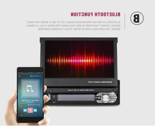 7'' 1 Radio BT Unit Audio Flip Touch Screen