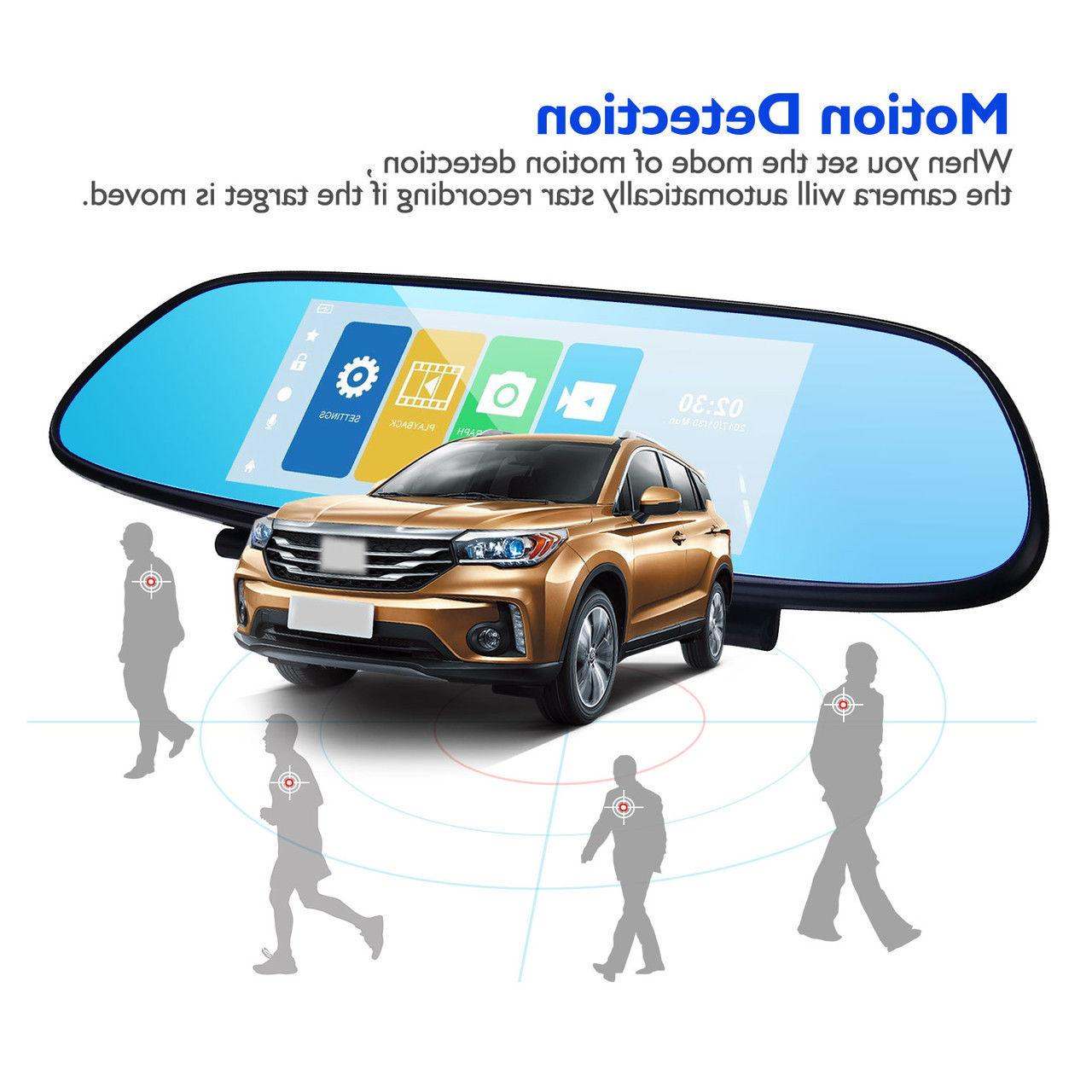 7'' Dual Lens Touch Screen Car Rear View Video Camera Recorder