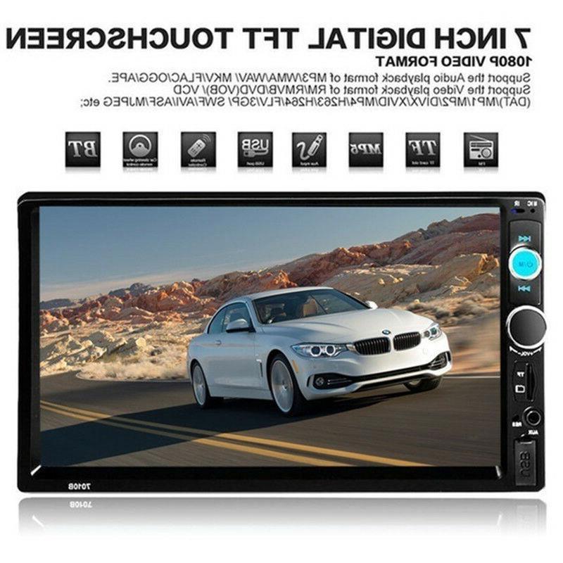 "7"" 1080P Screen FM/MP5 Player Bluetooth Radio"