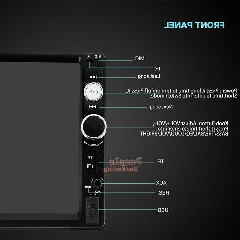 "7"" 2 HD 1080P Car FM/MP5 Player Radio In-Dash"