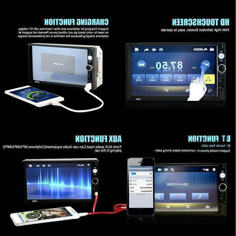 "7"" 2 1080P Touch FM/MP5 Radio"
