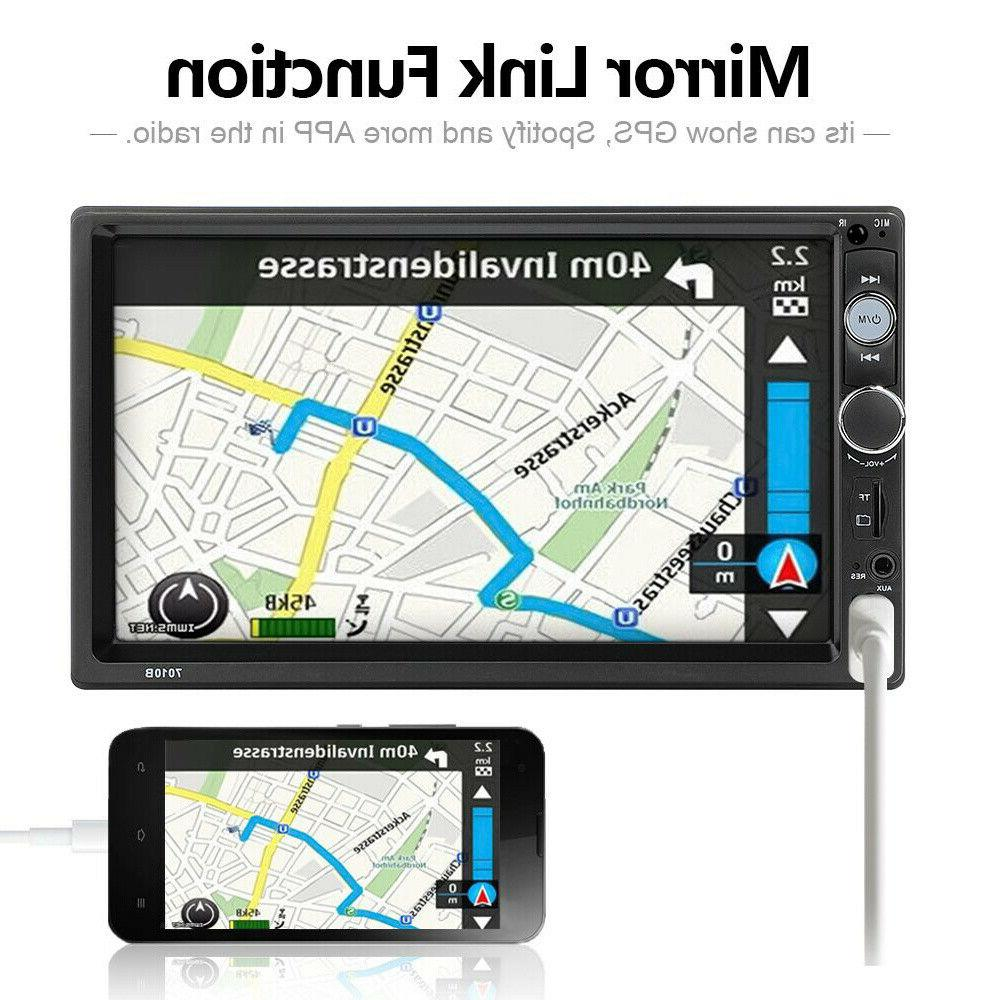"""7"""" Double MP5 Player Touch Screen Radio AUX IN"""