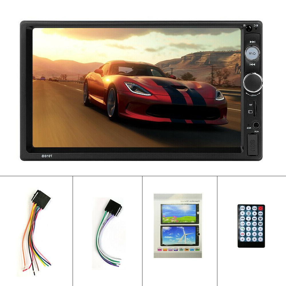 "7"" Double MP5 Player Bluetooth Screen USB"