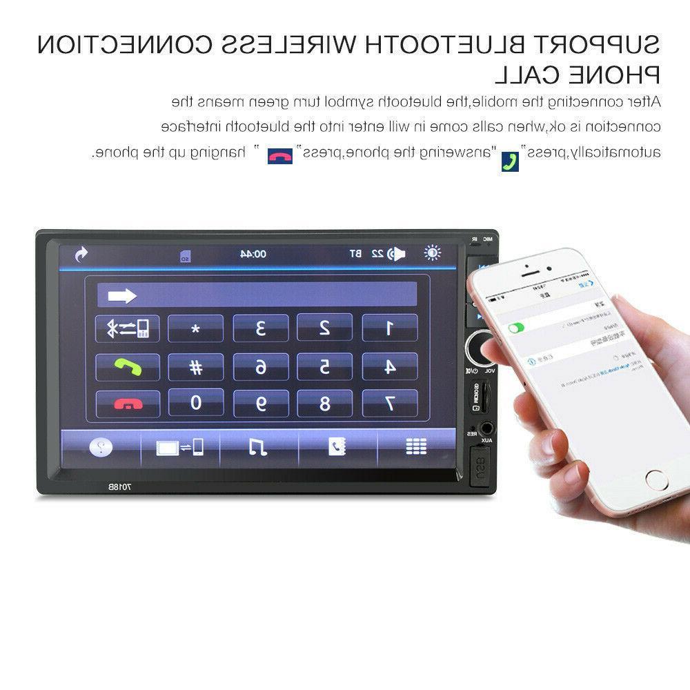 "7"" inch 2 DIN Car Bluetooth Screen Radio + Camera"