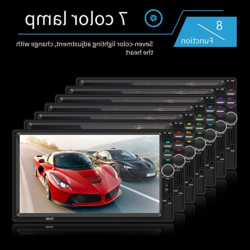 7 DOUBLE LCD BT Screen Stereo Radio HD+Camera