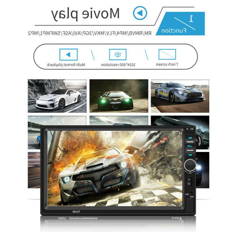 7 Inch DOUBLE LCD Car MP5 Player BT Radio HD+Camera