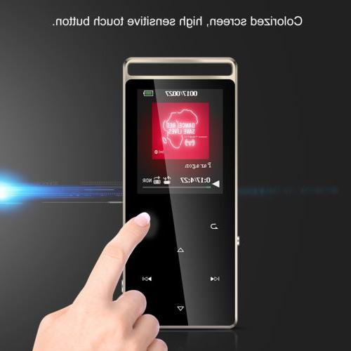 AGPTEK MP3 Player Button with FM/ Voice 128GB