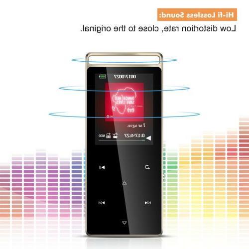 AGPTEK 8GB MP3 Player Button FM/ Voice 128GB