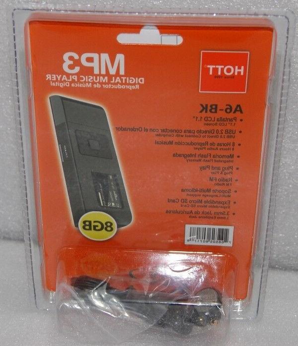 8GB 2.0 Drive MP3 Player with microSD & Radio