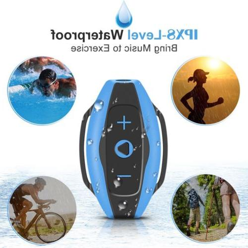 AGPTEK Wearable MP3 Player with Earphone for Blue