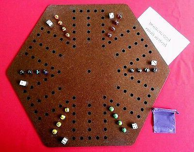 Aggravation, Wahoo wa hoo board game 6 player with felt back