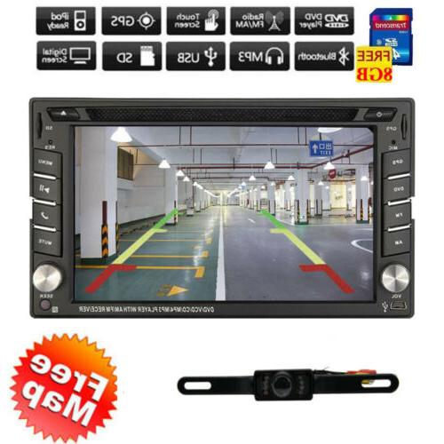 Backup Camera+GPS Car Stereo mp3 Bluetooth with Map