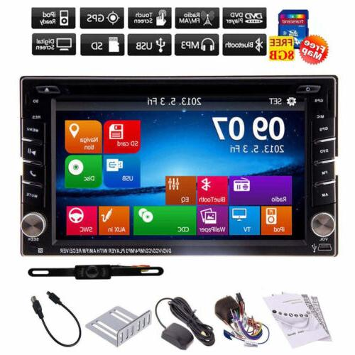 Backup Camera+GPS Double Din Car Stereo Radio DVD mp3 Player