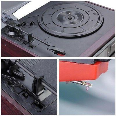 LCD Vinyl Play CD Cassette Music w/ Speaker