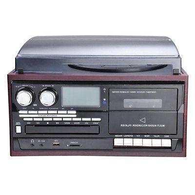 bluetooth lcd vinyl record player play cd