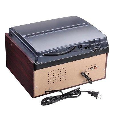 Bluetooth Stereo Record Player System Speakers AM/FM Cassette
