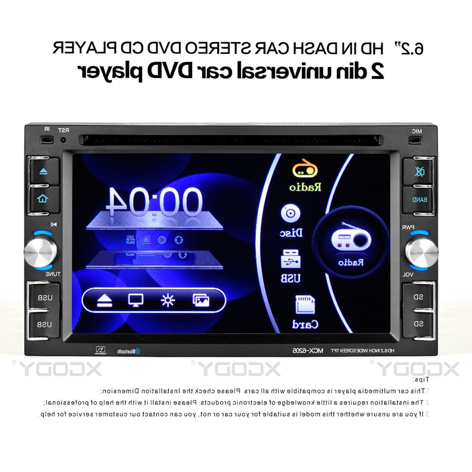 "Car CD MP5 Player 6.2"" Touch Screen Bluetooth + Cam"