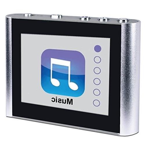 """Eclipse 1.8"""" MP3 Clip Audio Player - Silver"""
