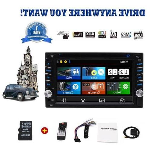 Eincar 7'' GPS Stereo 2Din Car DVD Player Subwoofer Ipod Tou