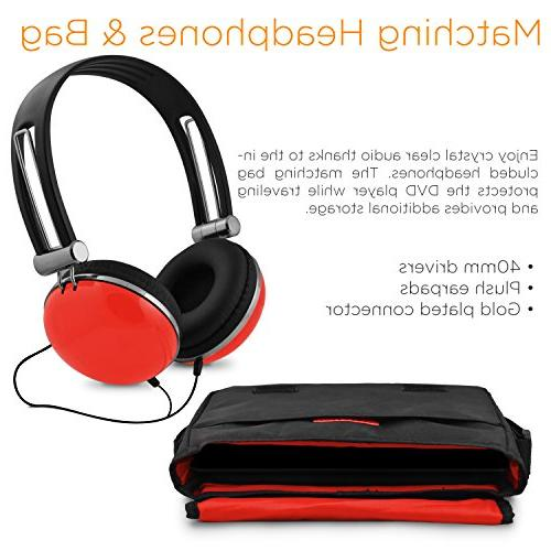 Ematic Portable Player with LCD Screen, Travel Bag and Headphones,