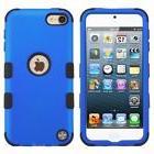 For Apple iPod Touch 5th Gen/6th Gen Blue Black Tuff Hard Hy