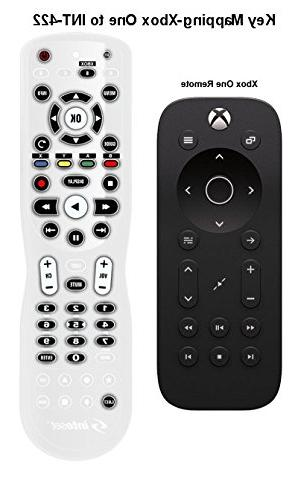 Inteset 4-in-1 IR Remote for use with Apple TV, Xbox Roku, Streamers and Devices