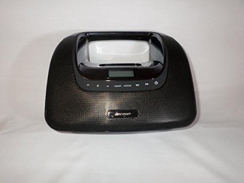 Memorex Portable Boombox w/Docking for w/FM &
