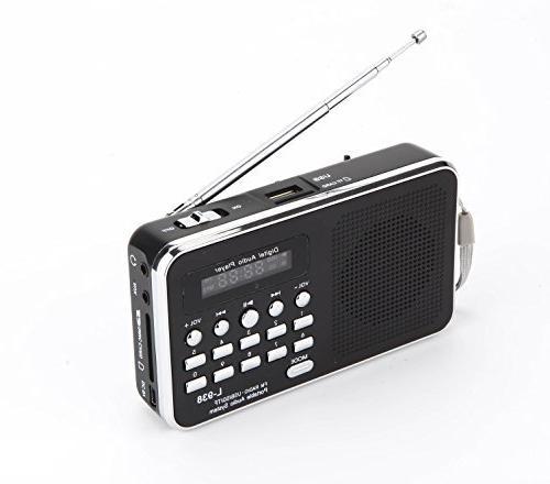 Mfine Portable Mini USB FM Radio Speaker Music Player TF Car