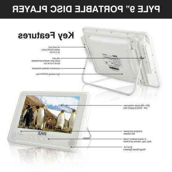 DVD Player, Rechargeable Battery, USB/SD