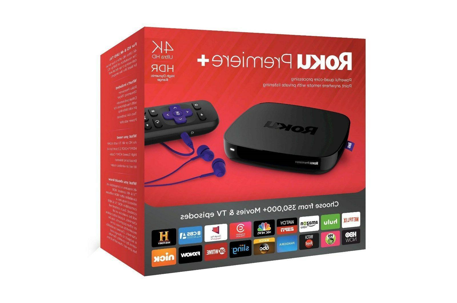 Roku - Premiere+ Streaming Media Player - Black