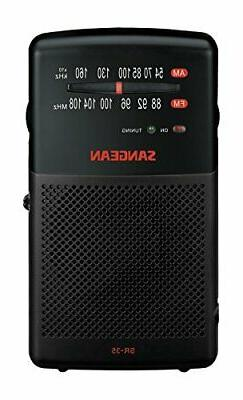 Sangean SR-35 AM/FM Analog Pocket Radio