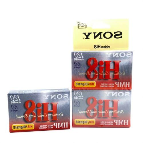 Sony Hi-8 HMPD 120 minute 2-Pack Video Camcorder Cassette Ta