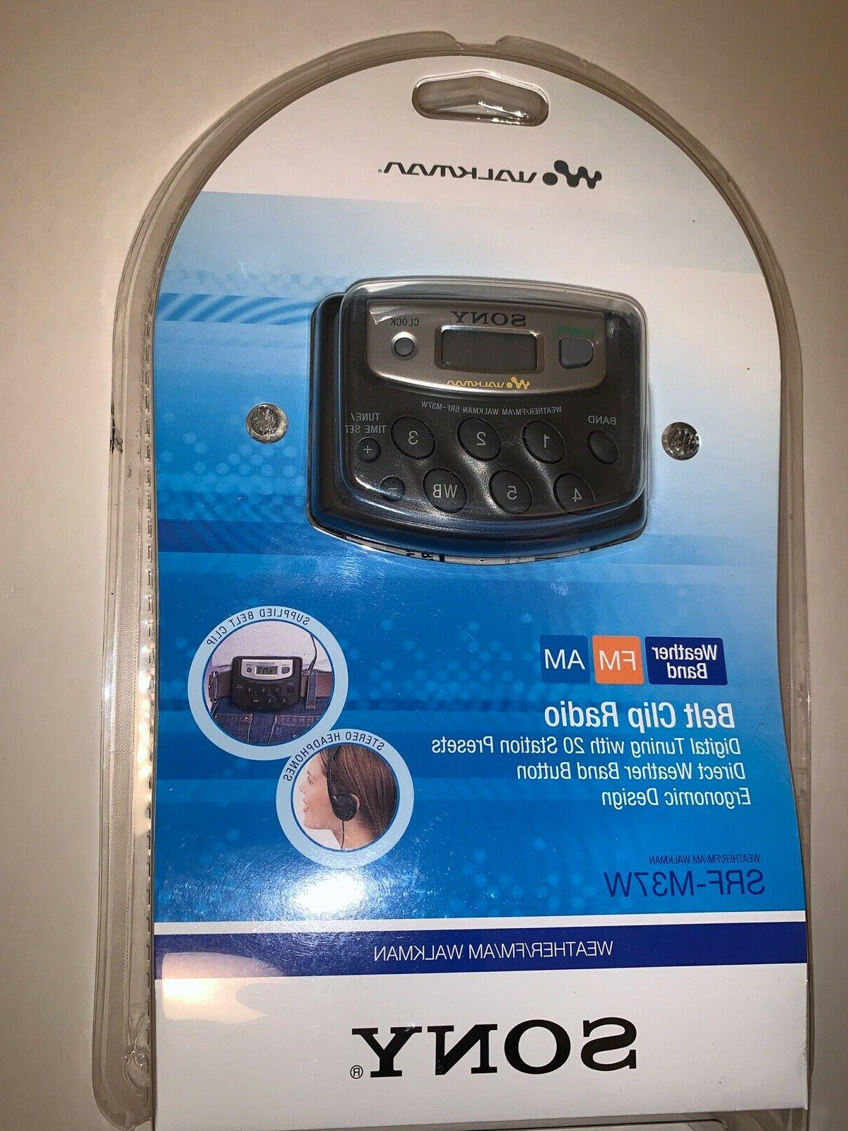 Sony SRF-M37W Walkman Digital Tuning Weather/FM/AM Stereo Ra