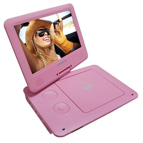 Sylvania Swivel Portable Player with 5 Hour Battery, Card AC/DC