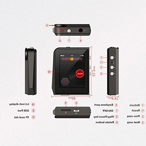 RUIZU Hi-Res MP3 Player DSD Music Supports