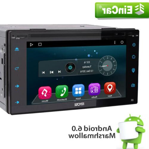 Eincar Android 6.0 Double 2 Din Car Stereo GPS DVD Player 6.