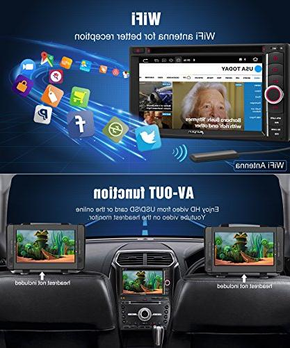 PUMPKIN Android Stereo Double CD Player GPS, WiFi, RAM, Fastboot, Backup Camera, Auto, 128GB AUX,