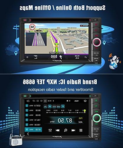 PUMPKIN Car Stereo Din CD Player with GPS, WiFi, RAM, Fastboot, Backup Auto, AUX, 6.2 Touchscreen