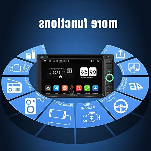 PUMPKIN Car Stereo Double CD Player with WiFi, 4GB RAM, Support Fastboot, Backup Camera, Auto, 128GB AUX, 6.2